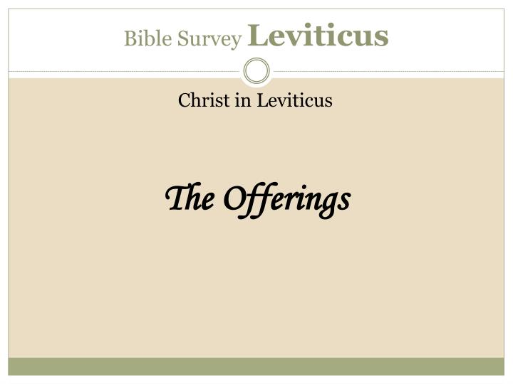 Bible Survey
