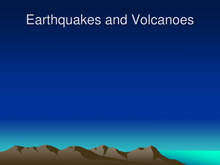 earthquakes and volcanoes n.