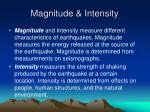 magnitude intensity