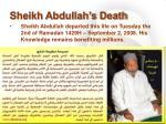 sheikh abdullah s death