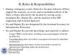 il roles responsibilities