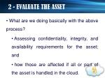 2 evaluate the asset6