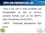 open and proprietary api2