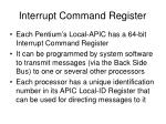 interrupt command register
