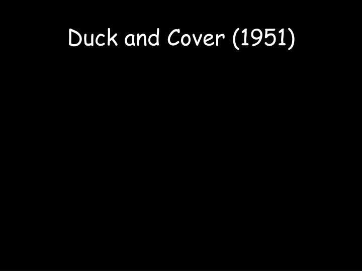Duck and cover 1951