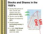 stocks and shares in the 1920 s