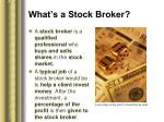 what s a stock broker