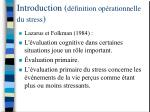 introduction d finition op rationnelle du stress1