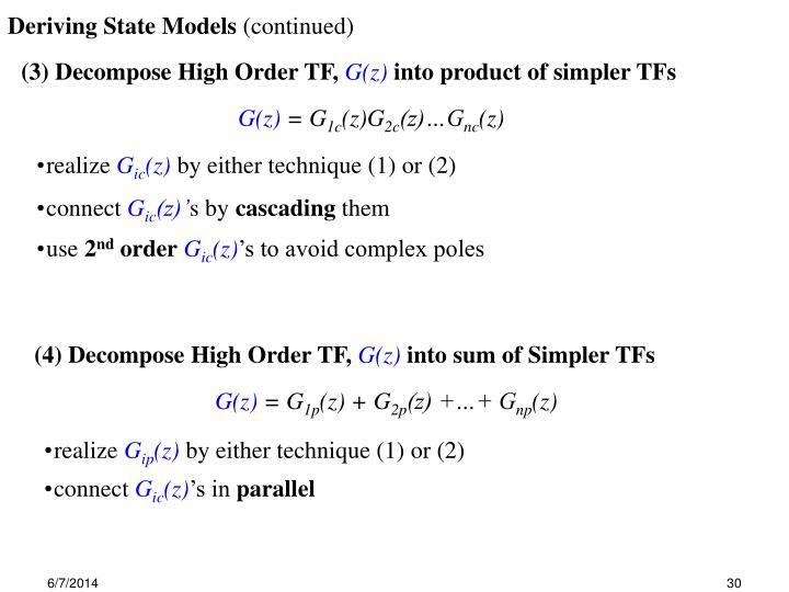 Deriving State Models