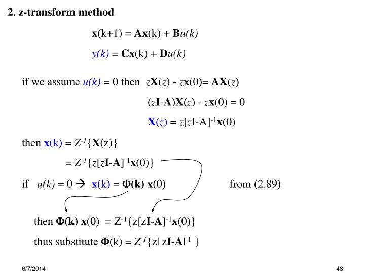 2. z-transform method
