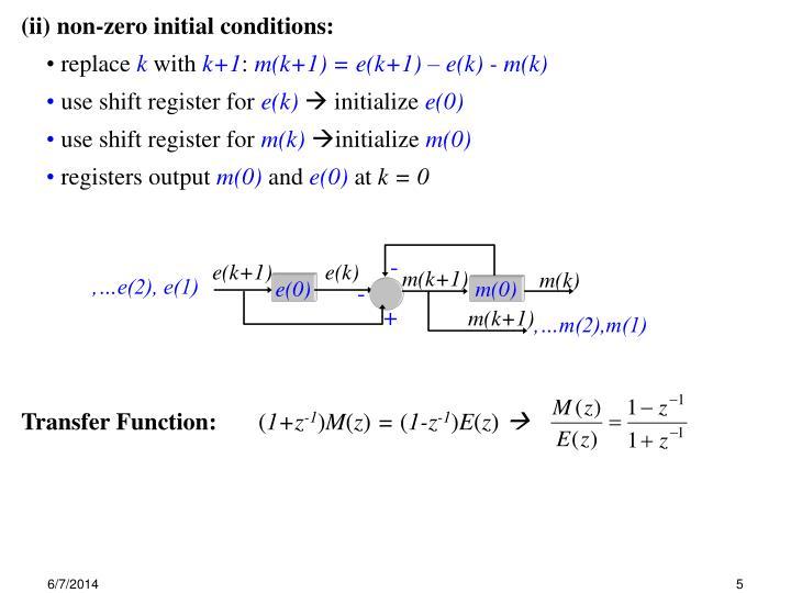 Transfer Function: