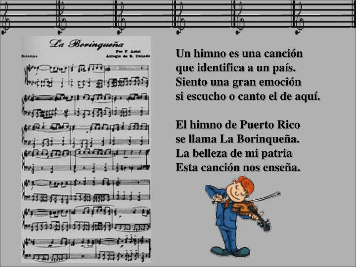 Un himno es una canción