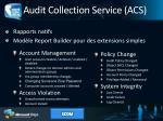 audit collection service acs1