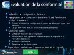 evaluation de la conformit