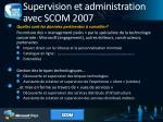 supervision et administration avec scom 2007