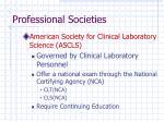 professional societies1
