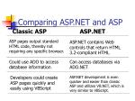 comparing asp net and asp