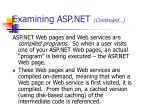 examining asp net continued
