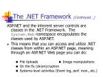 the net framework continued