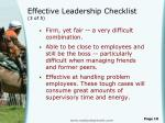 effective leadership checklist 3 of 5