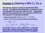 example 2 obtaining a 99 c i for p