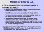margin of error c i