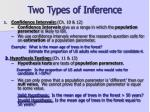 two types of inference
