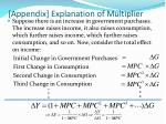 appendix explanation of multiplier