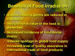benefits of food irradiation1