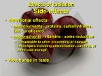 effects of radiation side effects