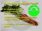 puchasing irradiated food