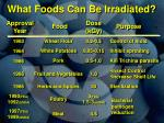 what foods can be irradiated1