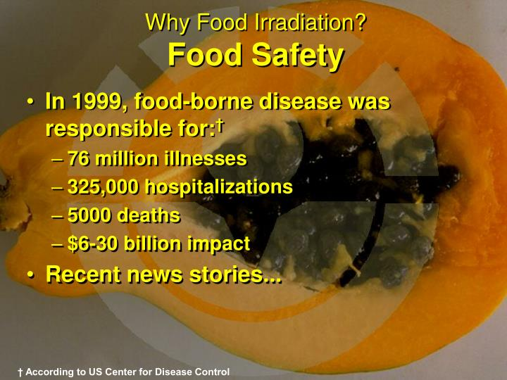 Why food irradiation food safety