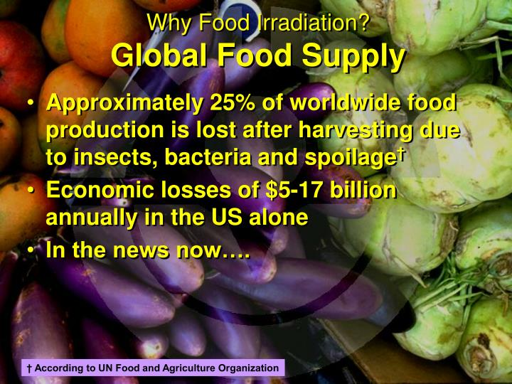 Why food irradiation global food supply