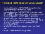 promising technologies in cervix cancer1
