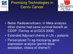 promising technologies in cervix cancer2