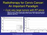 radiotherapy for cervix cancer an important paradigm1