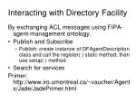 interacting with directory facility