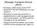 message transport service mts