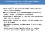 shared approaches towards a better understanding of impact costs and benefits