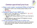 common operational practices