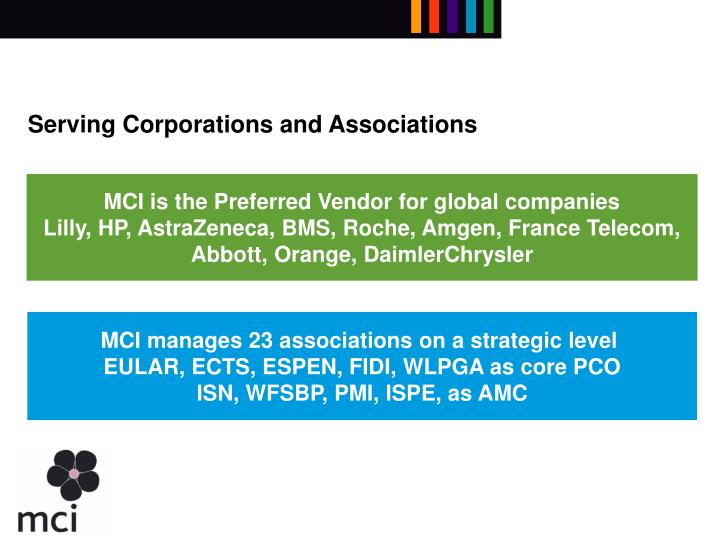 Serving Corporations and Associations