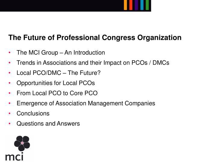 The future of professional congress organization1