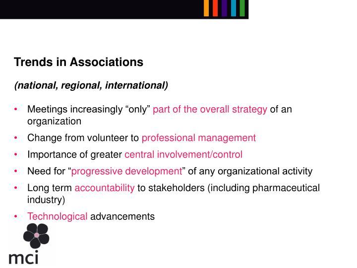 Trends in Associations