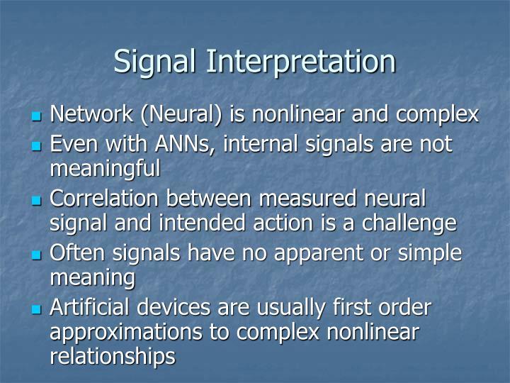Signal Interpretation