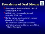 prevalence of oral disease