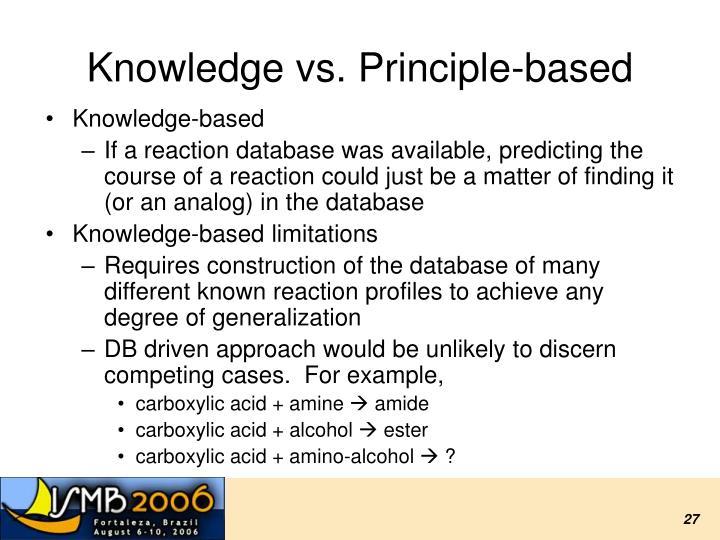 Knowledge vs. Principle-based