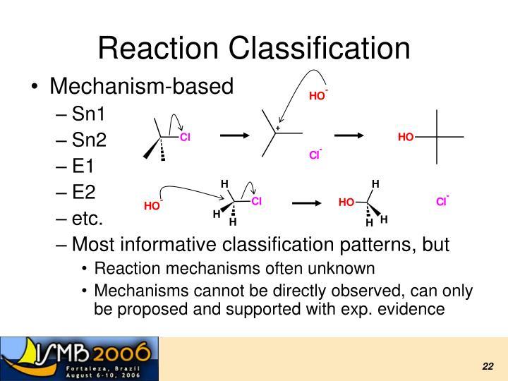 Reaction Classification