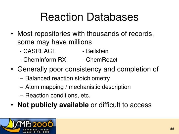 Reaction Databases