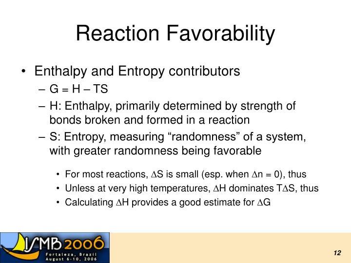 Reaction Favorability